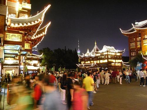 豫園と上海タワー